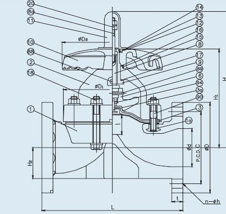 Item 1462040 pvc t 14 diaphragm valve on asahiamerica t 14 diaphragm valve flanged 25 4 ccuart Images