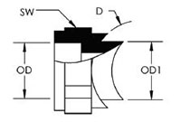 SIDE WALL BRANCH SOCKET OUTLET - dimensions